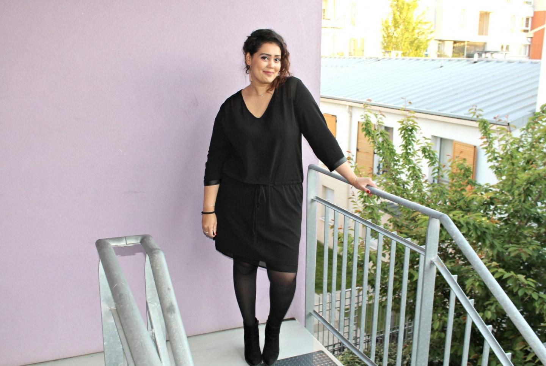 Robe noire grande taille Jiuly Paris - je suis une rebelle blogueuse mode grande taille et lifestyle