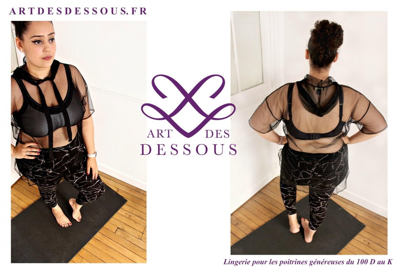 ART DES DESSOUS -Soutien gorge de sport grande taille - je suis une rebelle blogueuse mode et lifestyle