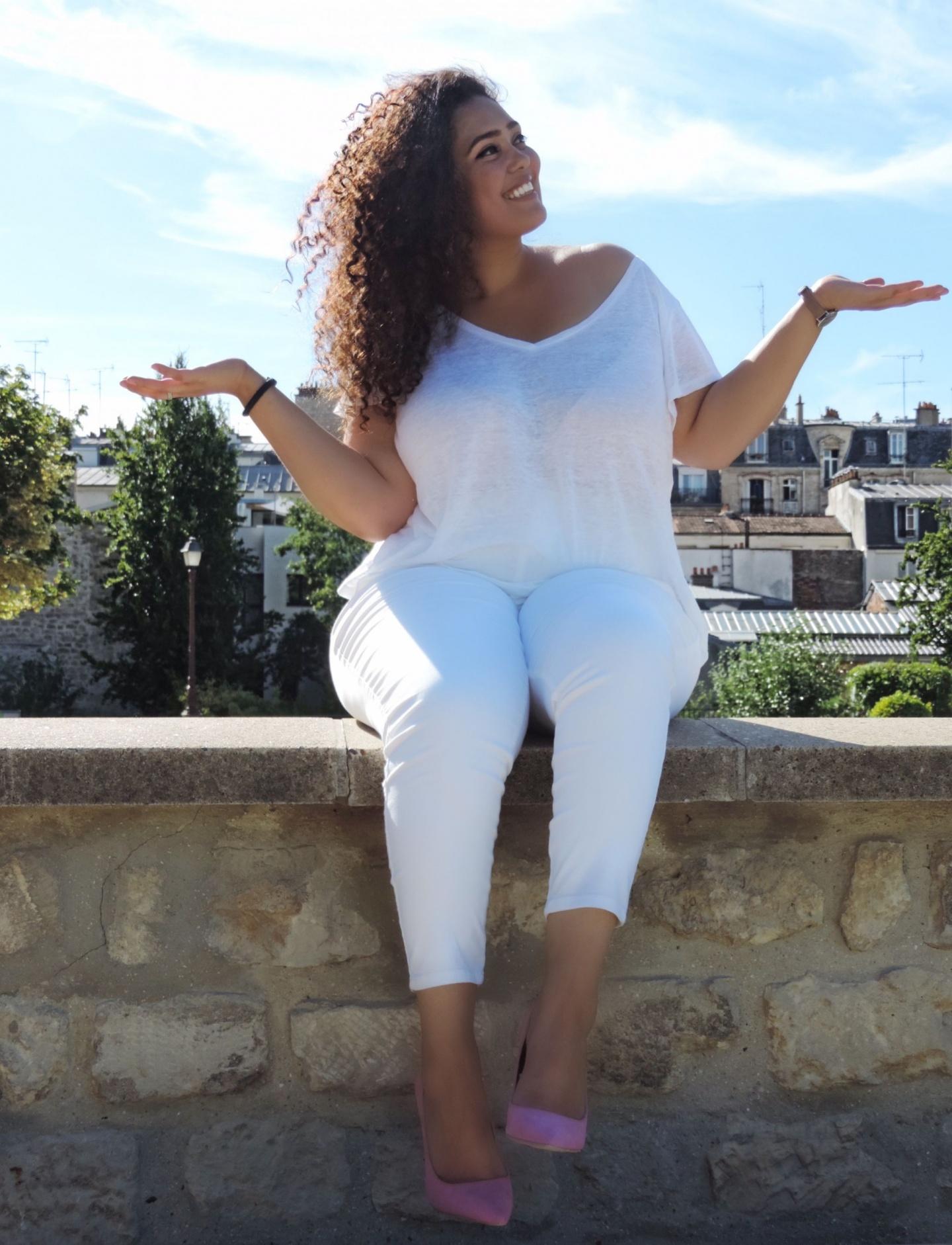 Porter des vêtements blancs quand on est ronde - Je suis une rebelle blog mode grande taille et lifestyle